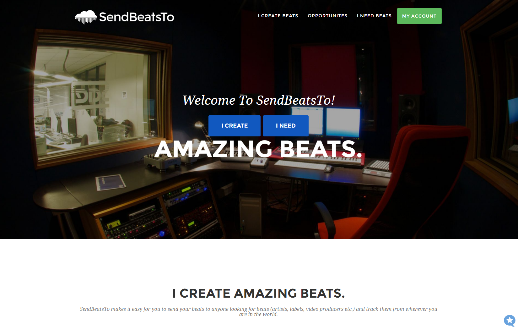 SendBeatsTo homepage (top)